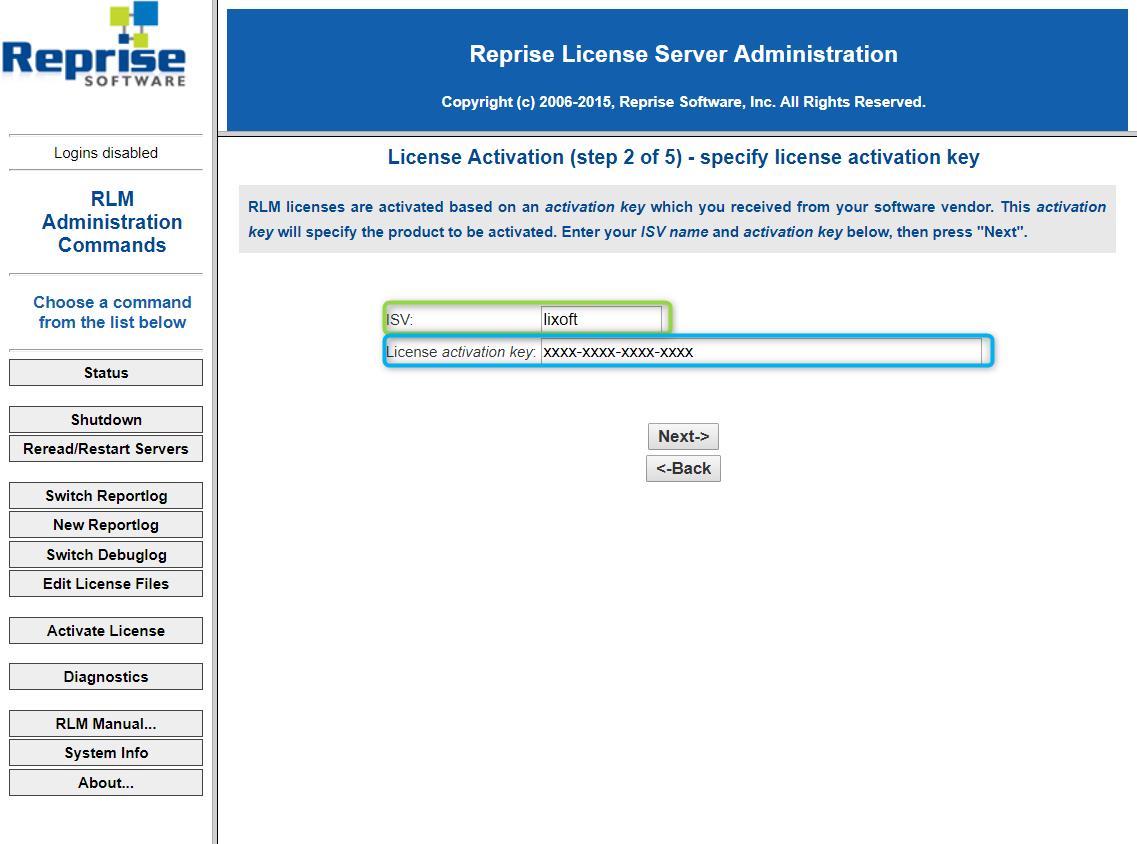 Floating license management service for MonolixSuite using