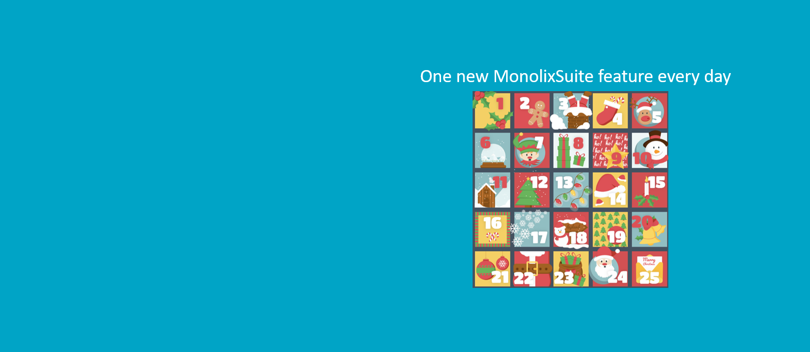MonolixSuite 2020 advent calendar