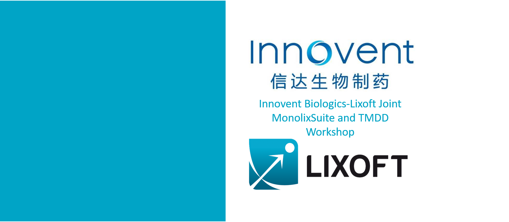 Innovent Biologics-Lixoft Joint MonolixSuite and TMDD Workshop