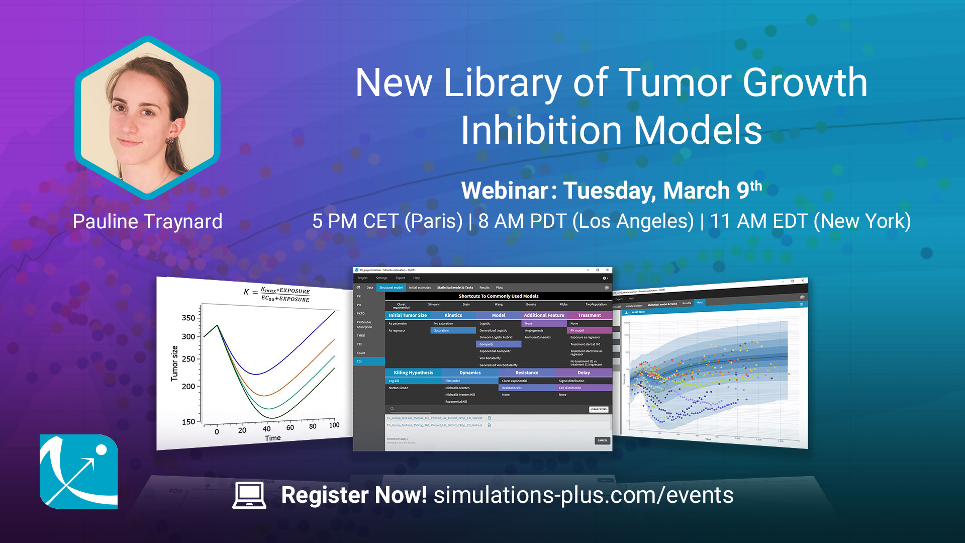 New Library of Tumor Growth Inhibition Models in Monolix