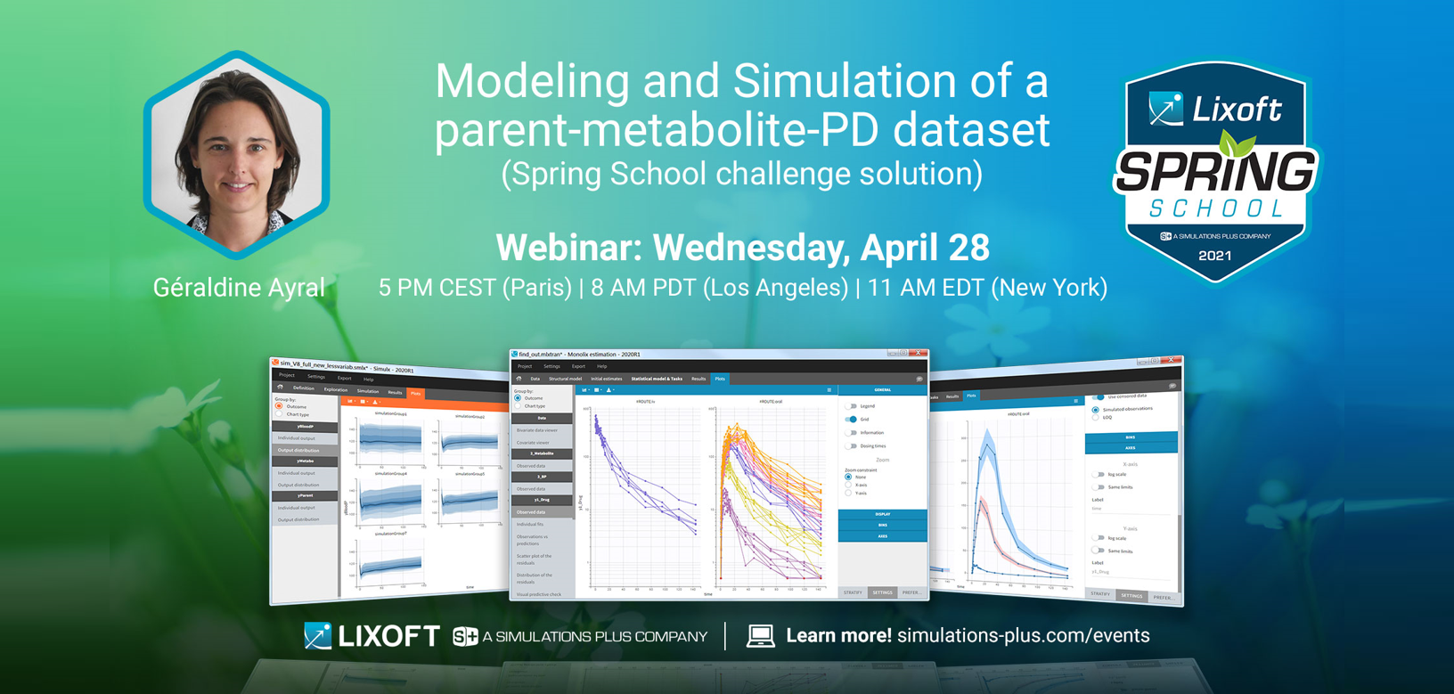 Modeling and Simulation of a parent/metabolite/PD dataset with Monolix and Simulx