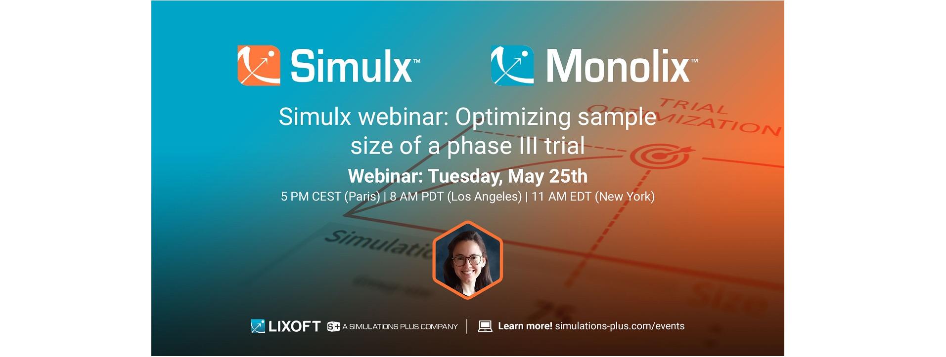 Simulx webinar: Optimizing sample size of a phase III trial
